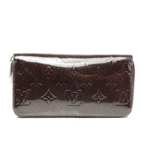 Auth Louis Vuitton Zippy Wallet Vernis #7919L16